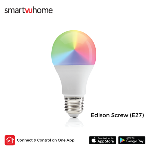 SmartVU Home™ Smart Bulb - 9w RGB Colour & Cool - Warm White (Wifi-E27)